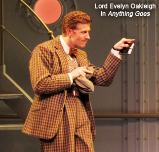 Mark Ledbetter as Lord Evelyn Oakleigh in Anything Goes on Broadway