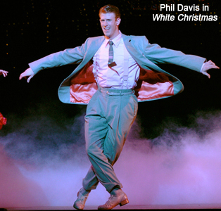 Mark Ledbetter as Phil Davis in Irving Berlin's White Christmas